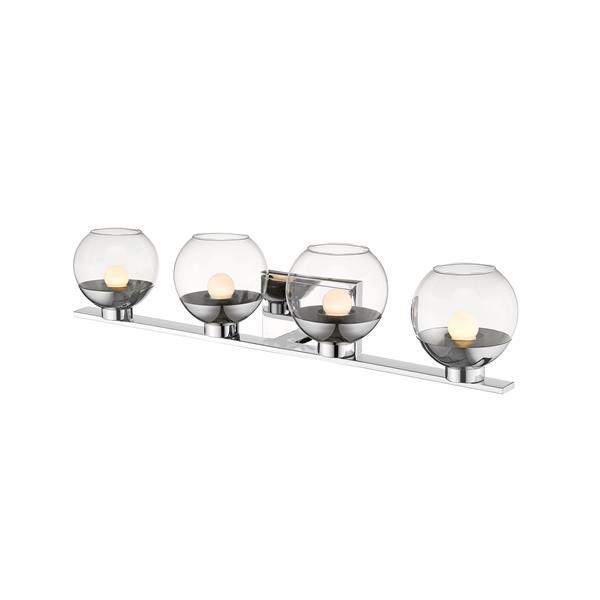 Z-Lite Osono Bathroom LED Vanity Light - 4-Light - Chrome