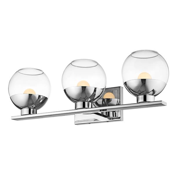 Z-Lite Osono Bathroom LED Vanity Light - 3-Light - Chrome