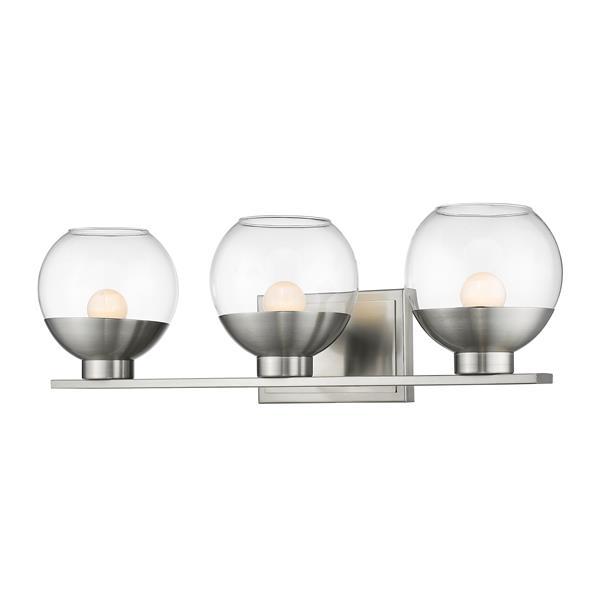 Z-lite Z-Lite Osono Bathroom LED Vanity Light - 3-Light - Brushed Nickel 1924-3V-BN-LED