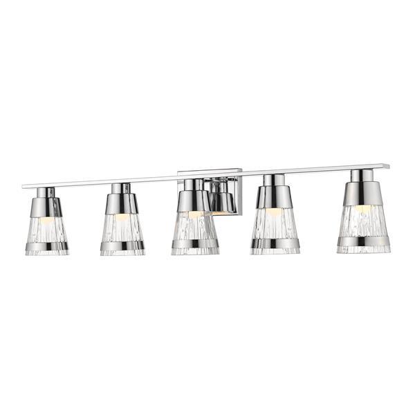 Z-lite Z-Lite Ethos Bathroom LED Vanity Light - 5-Light - Chrome 1923-5V-CH-LED