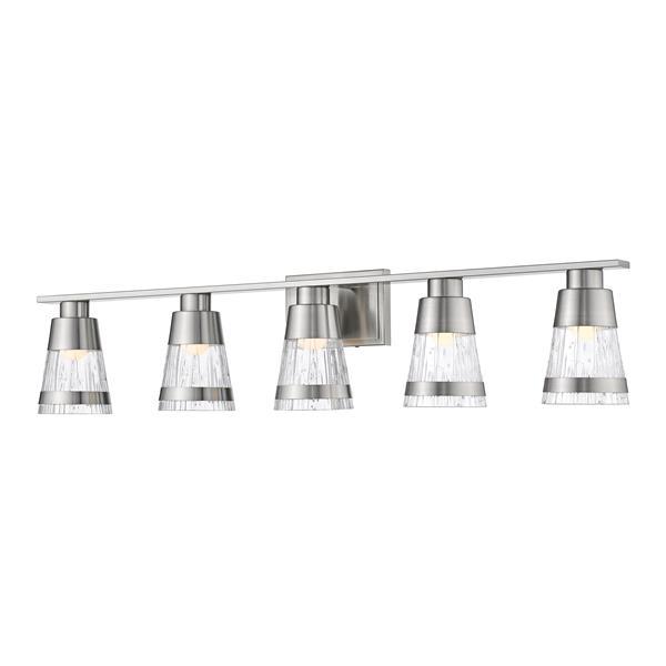 Z-lite Z-Lite Ethos Bathroom LED Vanity Light - 5-Light - Brushed Nickel 1923-5V-BN-LED