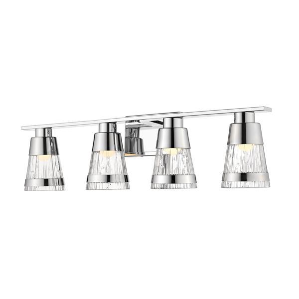 Z-lite Z-Lite Ethos Bathroom LED Vanity Light - 4-Light - Chrome 1923-4V-CH-LED