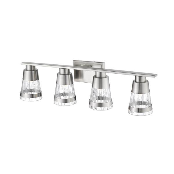 Z-Lite Ethos Bathroom LED Vanity Light - 4-Light - Brushed Nickel