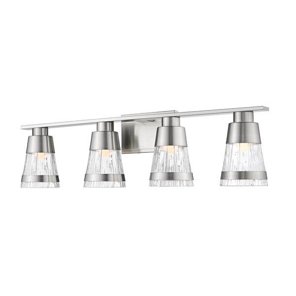 Z-lite Z-Lite Ethos Bathroom LED Vanity Light - 4-Light - Brushed Nickel 1923-4V-BN-LED