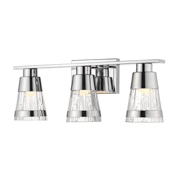 Z-lite Z-Lite Ethos Bathroom LED Vanity Light - 3-Light - Chrome 1923-3V-CH-LED