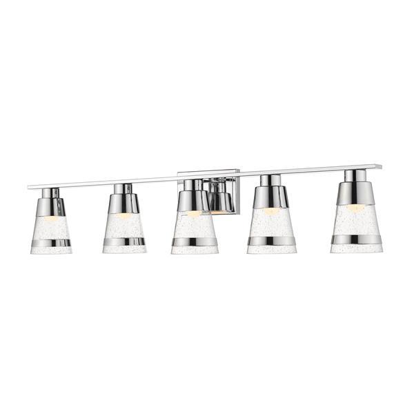 Z-lite Z-Lite Ethos Bathroom LED Vanity Light - 5-Light - Chrome 1922-5V-CH-LED