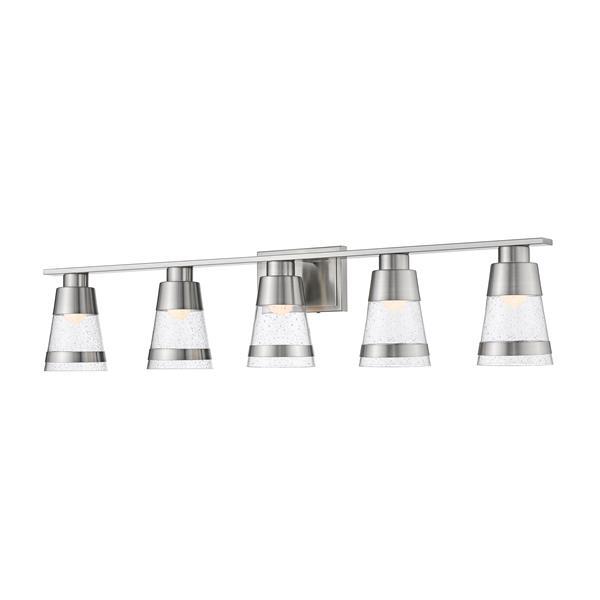 Z-lite Z-Lite Ethos Bathroom LED Vanity Light - 5-Light - Brushed Nickel 1922-5V-BN-LED