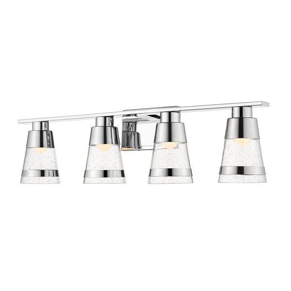 Z-lite Z-Lite Ethos Bathroom LED Vanity Light - 4-Light - Chrome 1922-4V-CH-LED