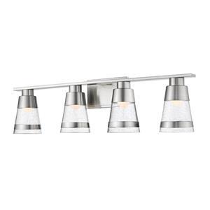 Applique pour salle de bain Ethos, 4 lumières, nickel brossé