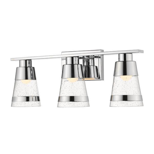 Z-lite Z-Lite Ethos Bathroom LED Vanity Light - 3-Light - Chrome 1922-3V-CH-LED
