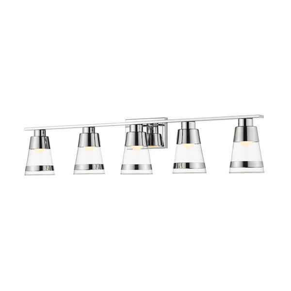 Z-lite Z-Lite Ethos Bathroom LED Vanity Light - 5-Light - Chrome 1921-5V-CH-LED