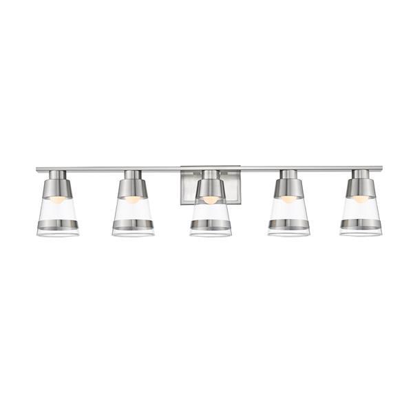 Z-Lite Ethos Bathroom LED Vanity Light - 5-Light - Brushed Nickel