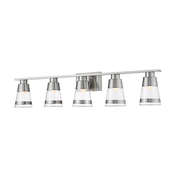 Z-lite Z-Lite Ethos Bathroom LED Vanity Light - 5-Light - Brushed Nickel 1921-5V-BN-LED