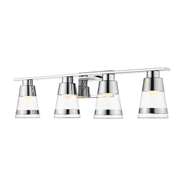 Z-lite Z-Lite Ethos Bathroom LED Vanity Light - 4-Light - Chrome 1921-4V-CH-LED