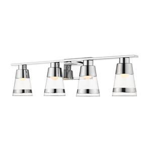 Applique pour salle de bain Ethos, 4 lumières, chrome