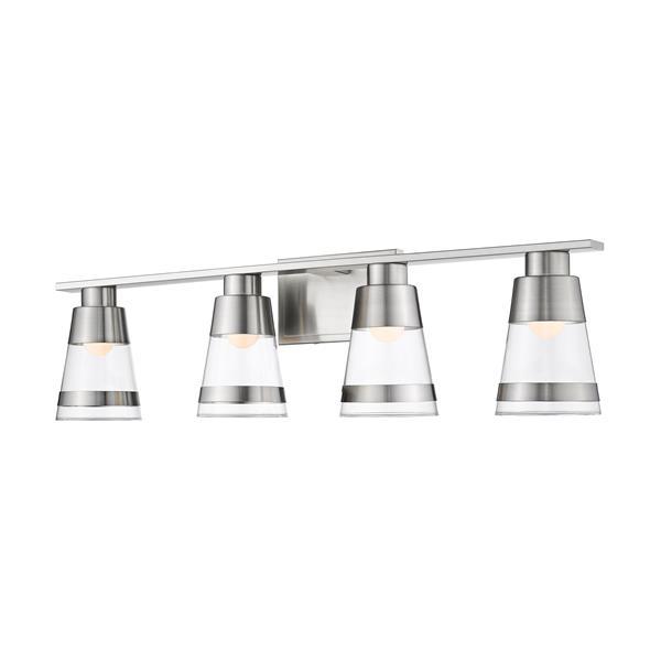 Z-lite Z-Lite Ethos Bathroom LED Vanity Light - 4-Light - Brushed Nickel 1921-4V-BN-LED