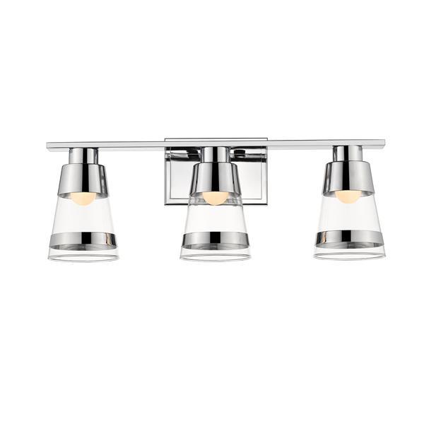 Applique pour salle de bain Ethos, 3 lumières, chrome