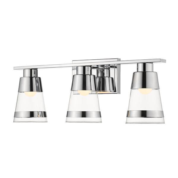 Z-lite Z-Lite Ethos Bathroom LED Vanity Light - 3-Light - Chrome 1921-3V-CH-LED
