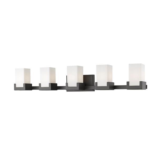 Z-Lite Peak Bathroom LED Vanity Light - 5-Light - Bronze