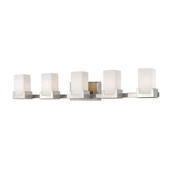 Z-lite Z-Lite Peak Bathroom LED Vanity Light - 5-Light - Brushed Nickel 1920-5V-BN-LED