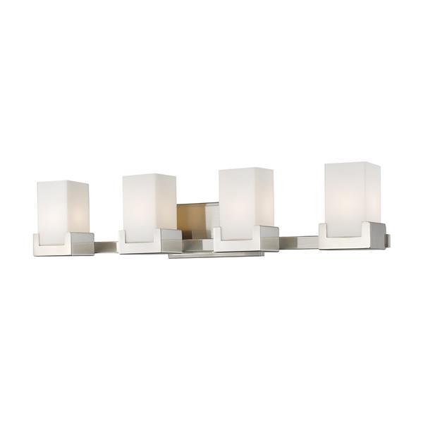 Z-lite Z-Lite Peak Bathroom LED Vanity Light - 4-Light - Brushed Nickel 1920-4V-BN-LED
