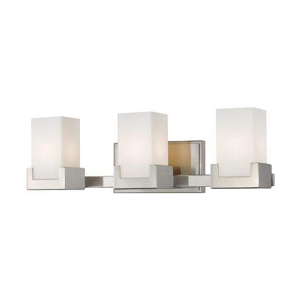 Z-lite Z-Lite Peak Bathroom LED Vanity Light - 3-Light - Brushed Nickel 1920-3V-BN-LED