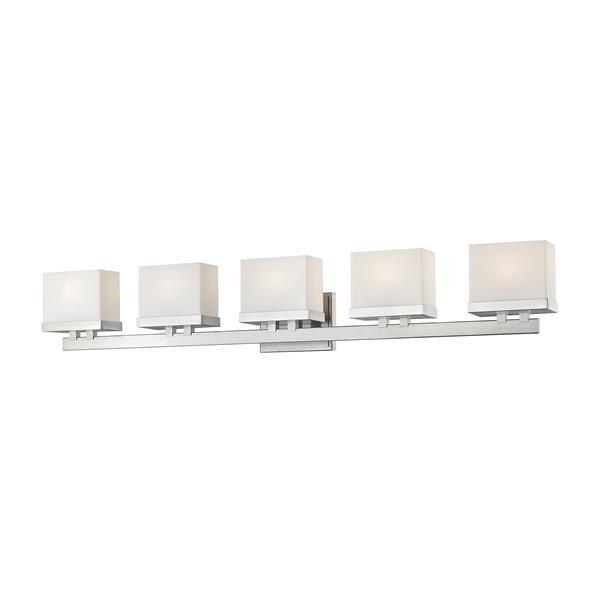 Z-lite Z-Lite Rivulet Bathroom LED Vanity Light - 5-Light - Brushed Nickel 1919-5V-BN-LED