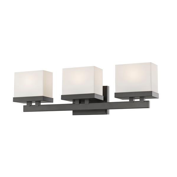 Z-Lite Rivulet Bathroom LED Vanity Light - 3-Light - Bronze