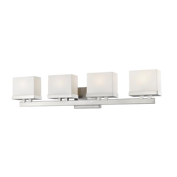 Z-Lite Rivulet Bathroom LED Vanity Light - 4-Light - Brushed Nickel