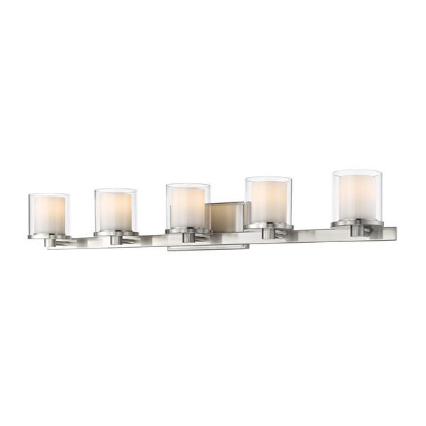 Z-Lite Schema Bathroom LED Vanity Light - 5-Light - Brushed Nickel