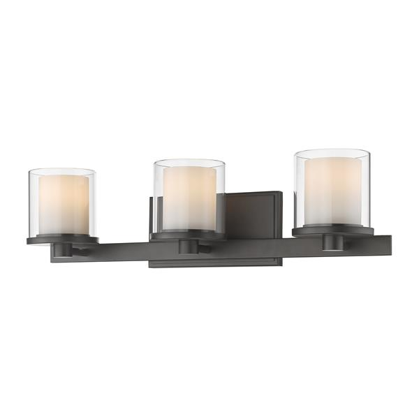 Z-Lite Schema Bathroom LED Vanity Light - 3-Light - Bronze