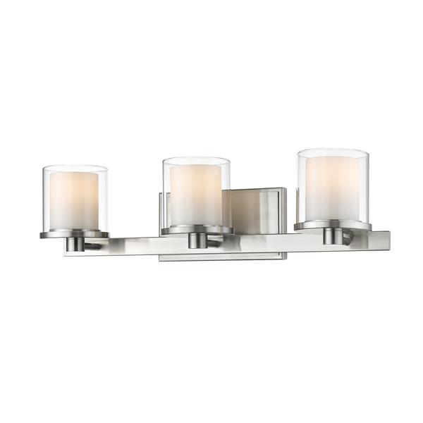 Z-lite Z-Lite Schema Bathroom LED Vanity Light - 3-Light - Brushed Nickel 1918-3V-BN-LED