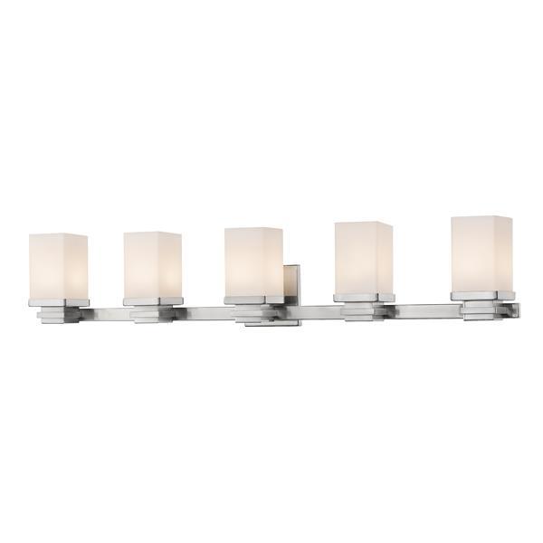 Z-Lite Avige Bathroom LED Vanity Light - 5-Light - Brushed Nickel