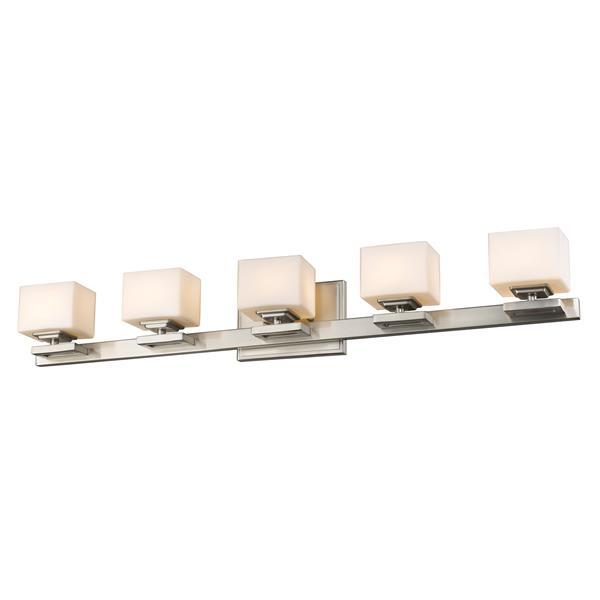 Z-lite Z-Lite Cuvier Bathroom Vanity Light - 5-Light - Brushed Nickel 1914-5V-BN