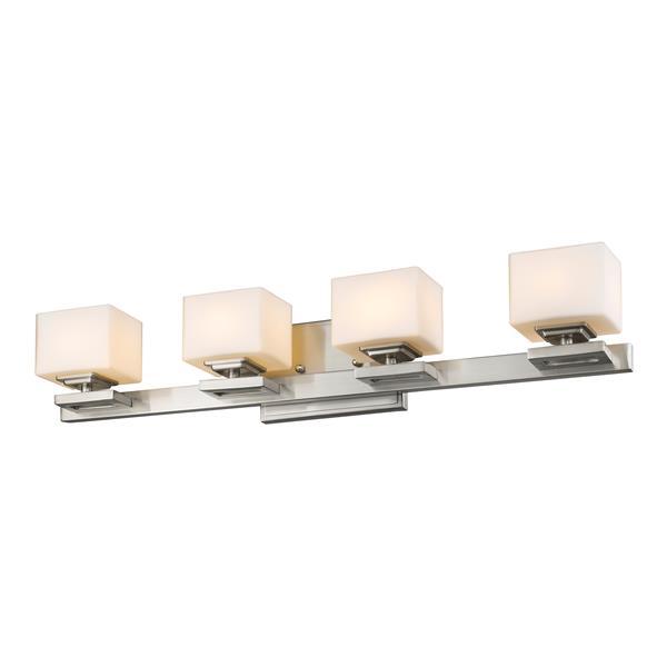Applique pour salle de bain Cuvier,4 lumières, nickel brossé