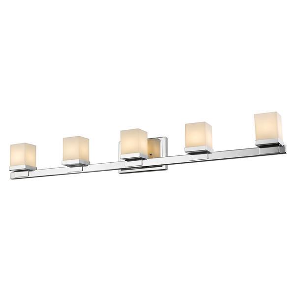 Z-Lite Cadiz Bathroom LED Vanity Light - 5-Light - Chrome