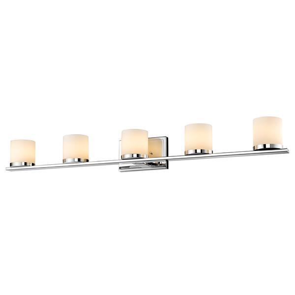 Z-lite Z-Lite Nori Bathroom LED Vanity Light - 5-Light - Chrome 1912-5V-CH-LED