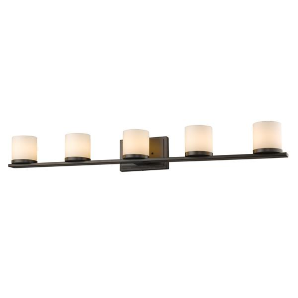 Z-Lite Nori Bathroom LED Vanity Light - 5-Light - Bronze