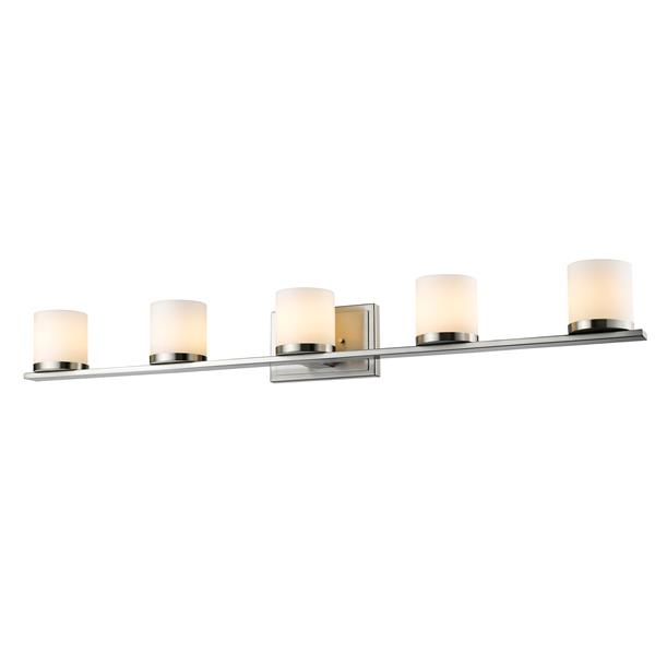 Z-lite Z-Lite Nori Bathroom LED Vanity Light - 5-Light - Brushed Nickel 1912-5V-BN-LED