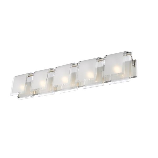 Z-Lite Zephyr Bathroom Vanity Light - 5-Light - Brushed Nickel