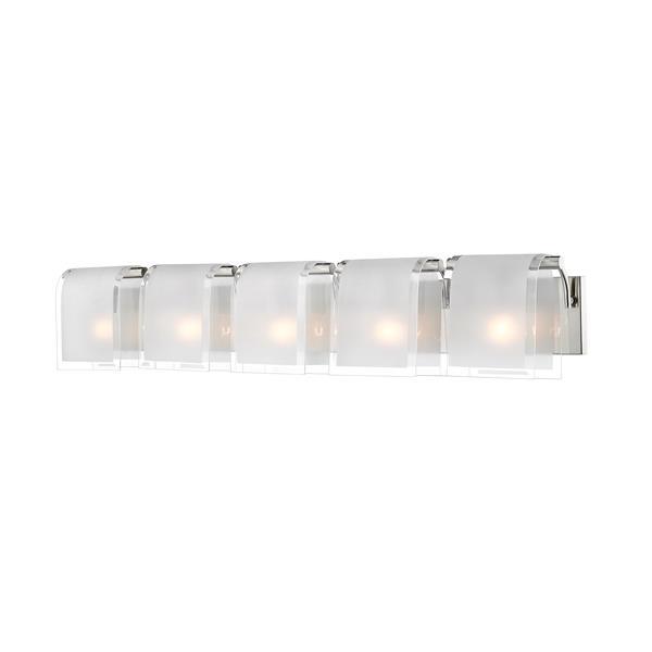 Z-lite Z-Lite Zephyr Bathroom Vanity Light - 5-Light - Brushed Nickel 169-5V-BN