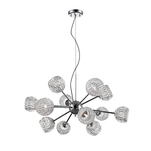 Z-Lite Laurentian 12-Light Pendant - 30-in  - Chrome