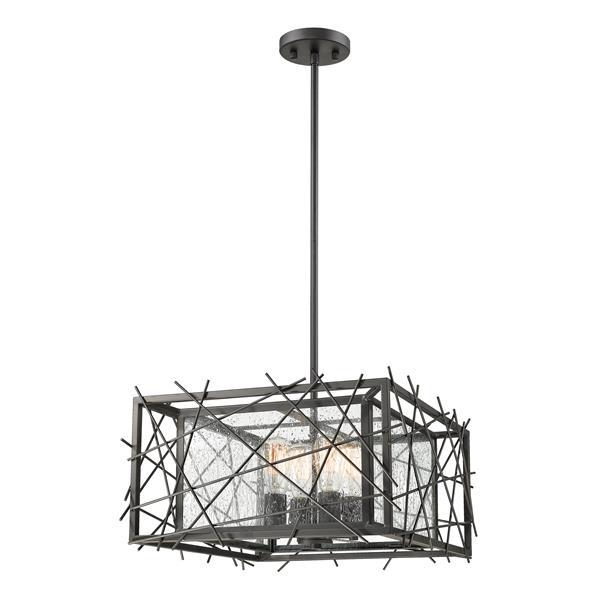 "Luminaire suspendu Stanwood, 4 lumières, 18"", bronze"