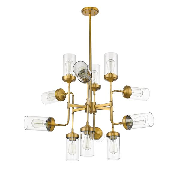 Z-Lite Calliope 12-Light Pendant - 36-in , Foundry Brass
