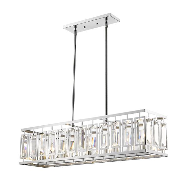 Z-Lite Mersesse 5-Light Pendant - 8.5-in - Chrome