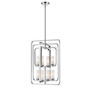 Z-Lite Aideen 8-Light Pendant - 19.75-in  - Chrome