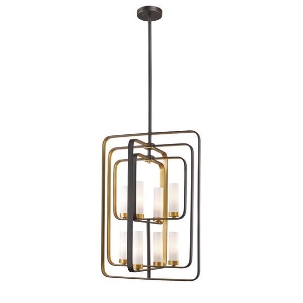 Z-Lite Aideen 8-Light Pendant - 19.75-in  - Bronze Gold