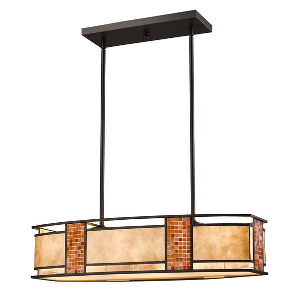Z-Lite Parkwood 4-light Kitchen Island Light - Bronze