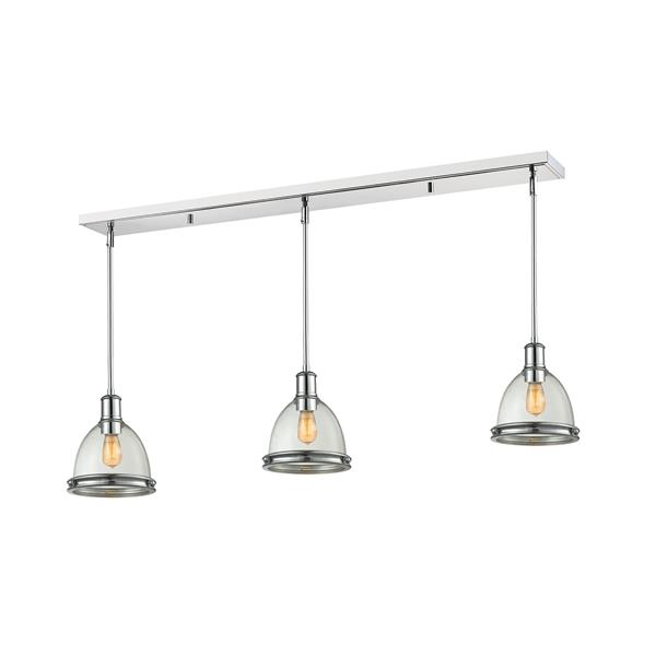 Z-Lite Mason 3-light Kitchen Island Light - Chrome