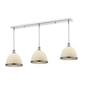 Luminaire de cuisine suspendu Mason, 3 lumières, chrome